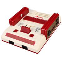 D101高清4K电视游戏机8位插FC卡无线双手柄怀旧经典红白机 抖音 单机标配