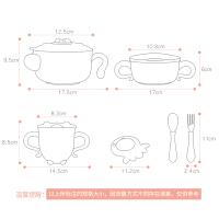 宝宝不锈钢吸盘碗勺套装儿童餐具注水保温碗辅食碗