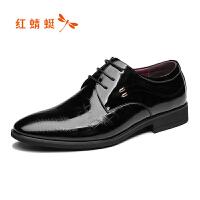 【领�幌碌チ⒓�120】红蜻蜓男鞋2019春新款商务正装皮鞋尖头系带单鞋工作鞋