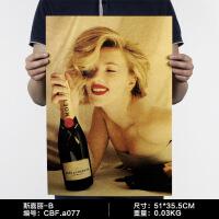 欧美怀旧复古经典电影海报牛皮纸酒吧咖啡厅墙壁装饰画墙纸壁饰