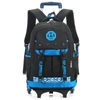 时尚韩版中学生拉杆书包可拆卸减负透气学生双肩包拖拉电脑背包大容量外出旅行包斜跨单肩包