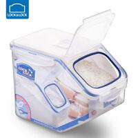 乐扣乐扣4kg8斤日式塑料米桶储米箱米缸面粉桶密封厨房储物收纳 5L(4KG)