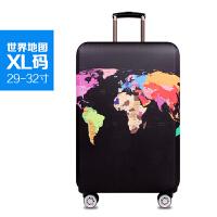行李箱保护套拉杆箱套旅行箱防尘弹力罩袋20/24/28寸30寸加厚耐磨 世界地图 XL码【箱套】
