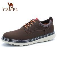 camel骆驼男鞋 秋季新款牛皮磨砂马丁鞋潮男鞋时尚休闲男鞋子