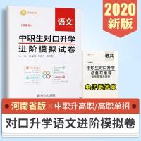 2020新版 河南省中职生对口升学进阶模拟试卷语文 复习资料 中职对口升学2020 中专生对口升学高考 河南对口高职单