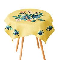 棉麻桌布布艺长方形现代田园餐桌布茶几台布圆桌盖布床头柜防尘布