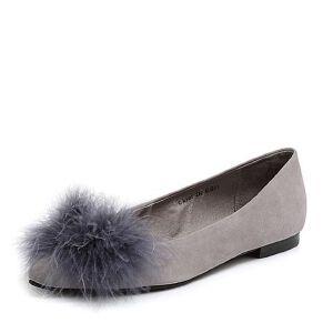 Teenmix/天美意2018春专柜同款羊绒皮/羽毛皮浅口女单鞋CB501AQ8
