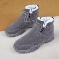 雪地靴男冬季保暖加绒加厚二棉鞋高帮防滑防水东北一脚蹬马丁棉靴
