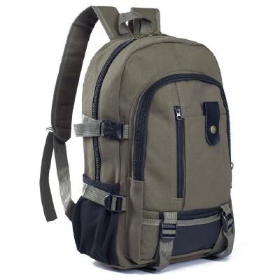 双肩包男帆布  大容量男女双肩包旅行背包时尚潮男女中大学生书包