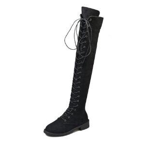 WARORWAR新品YM32-A18911冬季韩版磨砂反绒低跟马丁靴休闲男女中性情侣过膝靴长靴