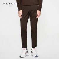 【1.18超品日全场2件2.5折,到手价:74.8】MECITY男装冬季斜纹混纺修身舒适纯色保暖长裤