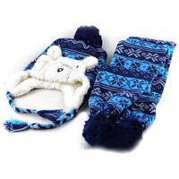 秋冬季冬天儿童可爱针织毛线帽 婴儿保暖套头帽 男女宝宝帽子