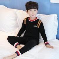 儿童保暖内衣套装纯棉男童秋衣秋裤8加绒9加厚10中大童12岁15男孩
