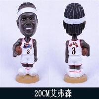 全篮球球星人偶模型玩偶摆件手办公仔韦德詹姆斯库里科比生日礼物车饰品