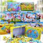 【悦乐朵玩具】儿童木质铁盒装迷你60片拼图拼装拼插玩具2-6岁男孩女孩生日礼物玩具六一儿童节礼物