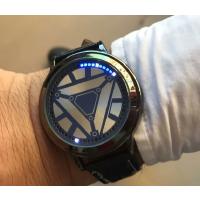 20180521215338840创意时尚炫酷LED触摸屏手表男女皮带防水学生情侣星空发光电子表