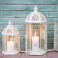 欧式铁艺镂空落地风灯烛台家居装饰品蜡烛台婚庆摆件