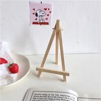 创意ins木支架木质手机ipad支架画家平板电脑桌面装饰可爱相框 小号木制支架 适合放手机