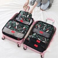 旅行收纳袋行李箱衣服整理包旅游衣物收纳袋子内衣整理袋6件套装