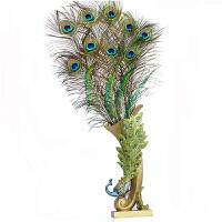 欧式艺术摆件创意家居装饰品客厅电视柜工艺品插干花孔雀羽毛花瓶