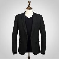 休闲西服男青年韩版潮冬季男士羊毛呢子小西装外套修身帅气单上衣