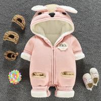 婴儿冬装套装加厚冬季外出抱衣0一1岁童装男女宝宝连体衣冬3个月6