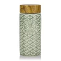 乾唐轩活瓷杯 生命之花阳光随身杯 双层保温300ml陶瓷茶杯水杯子