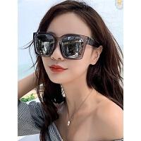 墨镜女圆脸gm太阳镜大框眼镜防紫外线