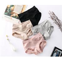 599 春夏新款2018 中高腰纯色透气3D蜂巢舒适简约女式内裤三角裤