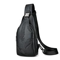 男士胸包单肩包斜挎包男皮包韩版时尚休闲个性小背包胸前包男包包
