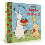 【顺丰速运】英文原版绘本 0-3-6岁幼儿启蒙认知图画故事书Pat the Bunny: At the Apple O