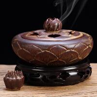 盘香炉香薰炉塔香陶瓷香炉莲花盘香香炉香插沉香檀香炉家用熏香炉