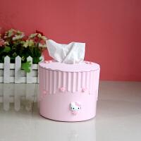 车载纸巾盒抽 客厅侧所卫生间厕纸盒个性可爱卧室小清新