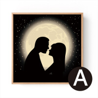客厅现代装饰画有框画餐厅壁画挂画卧室床头墙画爱情浪漫温馨恋人