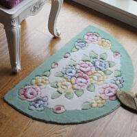 立体花朵进门入户地垫门垫脚垫防滑地垫半圆地垫厨房地垫玄关地毯