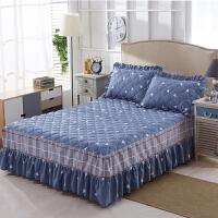 加厚夹棉床裙床罩单件席梦思保护套时尚卡通1.5床1.8床罩床单
