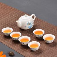 德化白瓷陶瓷功夫茶具套装家用简约茶壶盖碗茶杯广告礼品印字定制logo