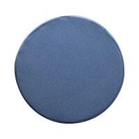无印日式良品聚氨酯泡沫低反弹坐垫慢回弹记忆棉办公椅垫圆型方形 混湖蓝色(圆形)(专柜) 记忆棉坐垫