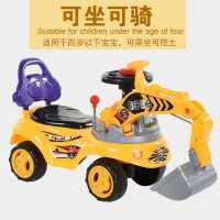 �和�玩具挖掘�C可坐可�T����大�挖�C音�饭こ�W步�男孩挖土�C