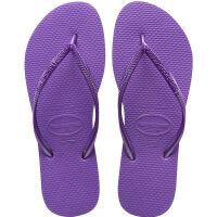 havaianas女款时尚细带人字拖Slim平底防滑哈瓦那拖鞋深紫色3503