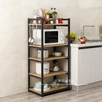厨房收纳置物架落地微波炉架多层厨房用品储物架锅架调料架子