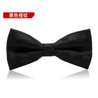 婚礼正装英伦韩版蝴蝶结男士领结男伴郎新郎黑色格纹领结