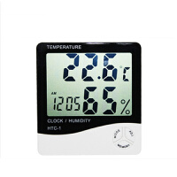 大屏幕家用温度计温湿度计 高精度室内电子温度计 带闹钟