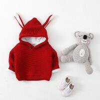 加绒春秋装韩版女宝宝毛衣男童套头幼儿针织衫婴儿外套0-1-2-3岁 丨加绒加厚