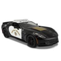 美驰图原厂1:24日产GTR车模型雪佛兰警车版仿真跑车合金汽车模型 雪佛兰克尔维特 警车版100