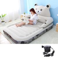 家用加大加厚单人双人充气床卡通腰靠气垫床户外露营帐篷便携折叠睡垫床