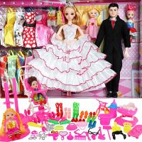 特价包邮芭比娃娃套装梦幻礼盒过家家儿童玩具洋娃娃公主女孩礼物换装搭配