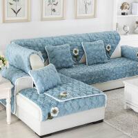 物有物语 沙发垫 冬季防滑加厚毛绒简约现代客厅沙发套全包*套巾罩全盖