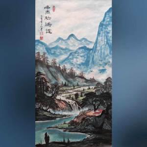实力派彩墨画家   王红彦   峰高松涛远   /2-48