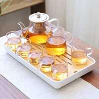 日式玻璃茶具套装家用功夫茶杯小茶台简约客厅办公室整套茶壶茶盘kb6